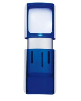 Magnifier square illuminated blue Wedo