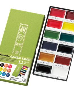 GANSAI TAMBI Aquarel 12 colour set