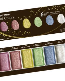 GANSAI TAMBI PEARL COLORS 6 colors set