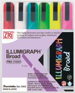 ZIG Illumigraph B 6 mm 6/wallet